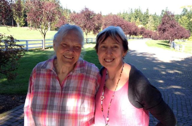 Wanja Twan with Shelley in Saanich, October 2015